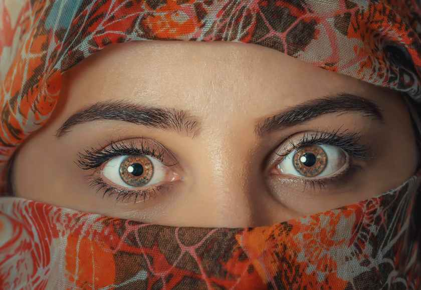 beauty close up eyebrows eyes